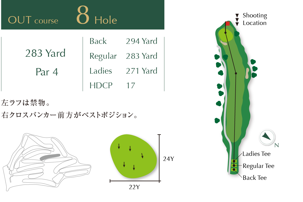 Out course Hole 8