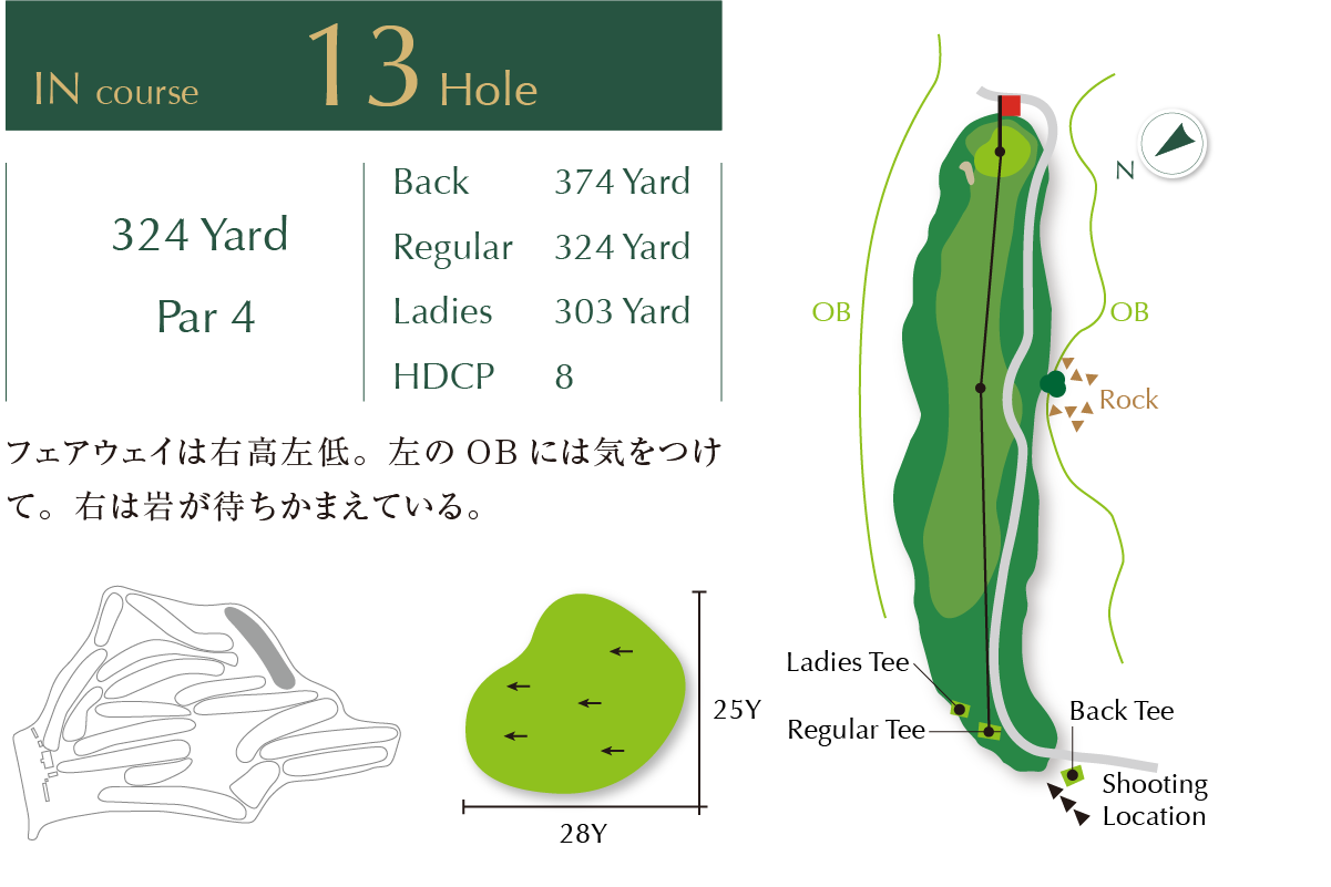 Out course Hole 13